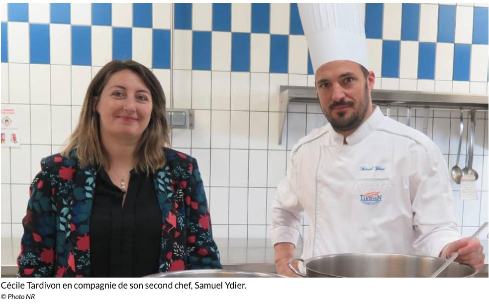 Cécile Tardivon en compagnie de son second chef, Samuel Ydier